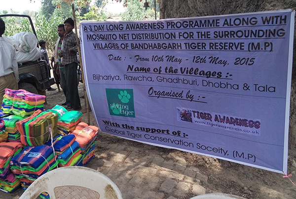 Mosquito Nets and Awareness Programme In Bandhavgarh May 2015