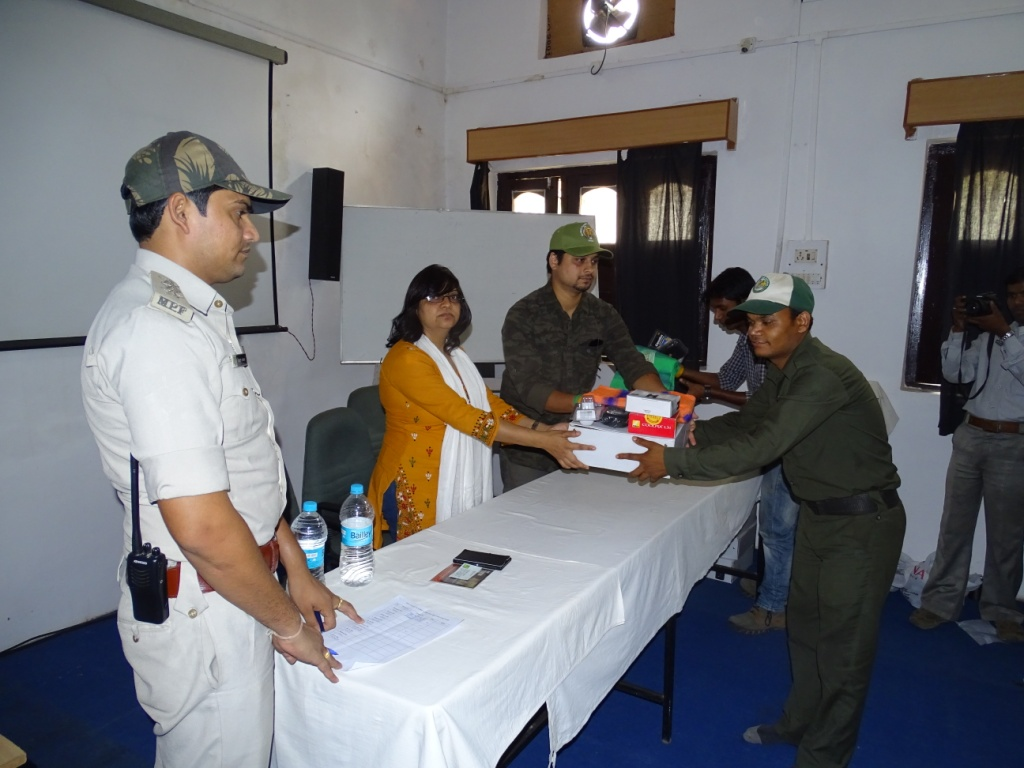 Equipment Support For Forest Staff in Pench saving tigers
